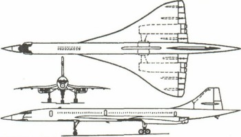 Самолет конкорд схема